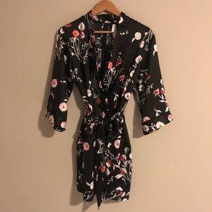 Kimono style floral robe